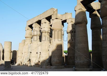 Ruins Of The Ancient Egyptian Temple In Luxor. Egypt