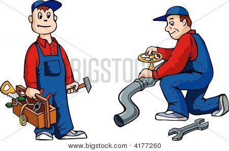 Plumber With Tools