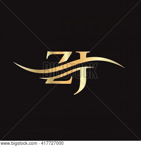 Water Wave Zj Logo Vector. Swoosh Letter Zj Logo Design For Business And Company Identity.