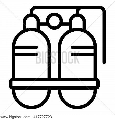 Swimming Equipment Icon. Outline Swimming Equipment Vector Icon For Web Design Isolated On White Bac