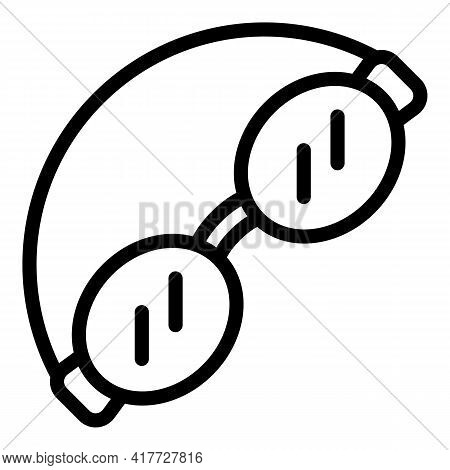 Swimming Glasses Icon. Outline Swimming Glasses Vector Icon For Web Design Isolated On White Backgro