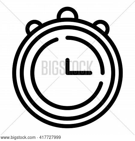 Swimming Stopwatch Icon. Outline Swimming Stopwatch Vector Icon For Web Design Isolated On White Bac