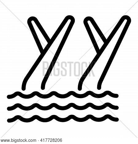 Swimming Dancing Icon. Outline Swimming Dancing Vector Icon For Web Design Isolated On White Backgro