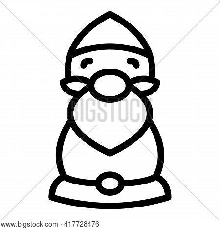 Farm Gnome Icon. Outline Farm Gnome Vector Icon For Web Design Isolated On White Background