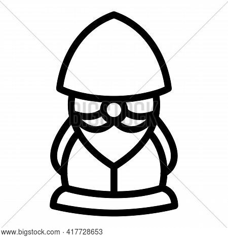Lamp Dwarf Icon. Outline Lamp Dwarf Vector Icon For Web Design Isolated On White Background