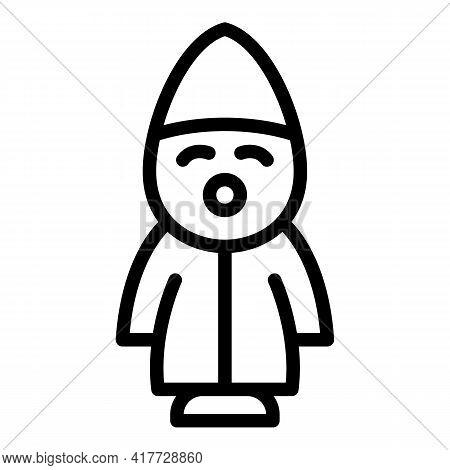 Figurine Midget Icon. Outline Figurine Midget Vector Icon For Web Design Isolated On White Backgroun