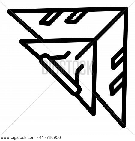 Plane Glider Icon. Outline Plane Glider Vector Icon For Web Design Isolated On White Background