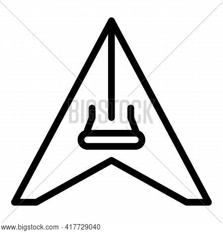 Gliding Sport Icon. Outline Gliding Sport Vector Icon For Web Design Isolated On White Background