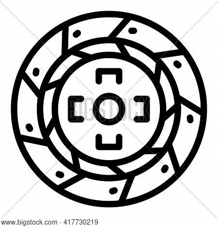 Clutch Gearbox Icon. Outline Clutch Gearbox Vector Icon For Web Design Isolated On White Background