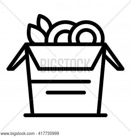 Delivery Meal Icon. Outline Delivery Meal Vector Icon For Web Design Isolated On White Background