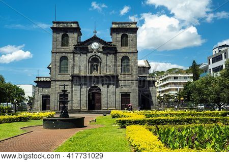 Port Louis, Mauritius-december 3, 2019: Exterior View Of The Immaculate Conception Church In Port Lo