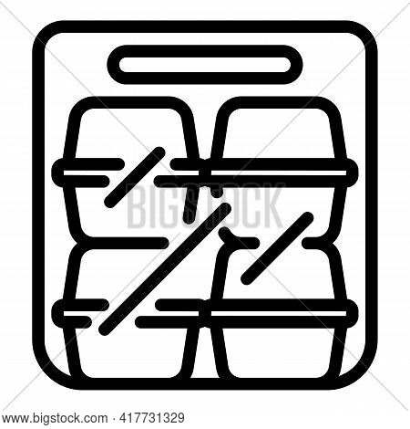 Restaurant Takeout Icon. Outline Restaurant Takeout Vector Icon For Web Design Isolated On White Bac