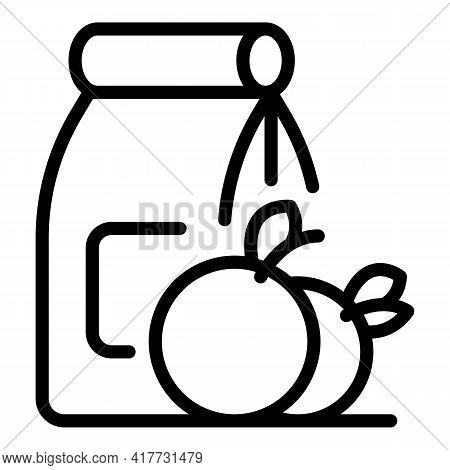 Bio Food Pack Icon. Outline Bio Food Pack Vector Icon For Web Design Isolated On White Background