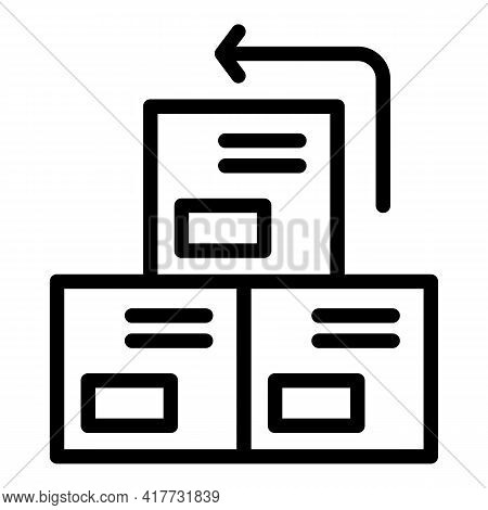 Return Boxes Icon. Outline Return Boxes Vector Icon For Web Design Isolated On White Background