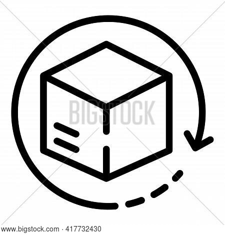 Replace Box Icon. Outline Replace Box Vector Icon For Web Design Isolated On White Background