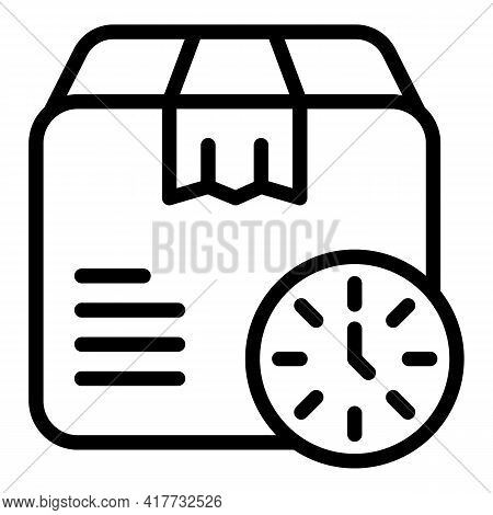 Parcel Shipment Icon. Outline Parcel Shipment Vector Icon For Web Design Isolated On White Backgroun