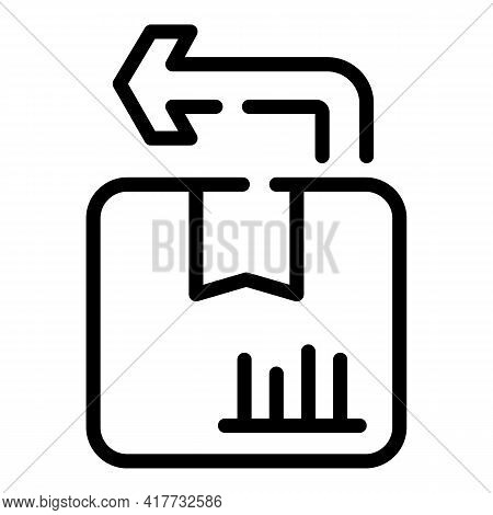 Exchange Goods Icon. Outline Exchange Goods Vector Icon For Web Design Isolated On White Background