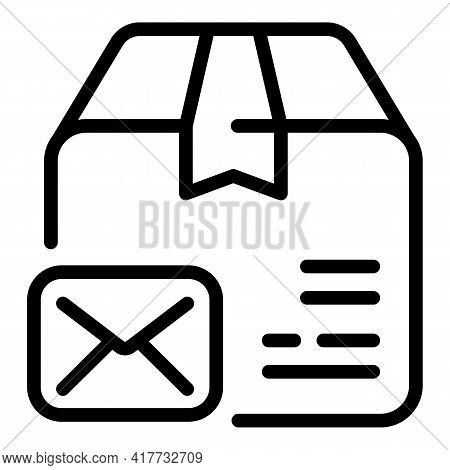 Envelope Parcel Icon. Outline Envelope Parcel Vector Icon For Web Design Isolated On White Backgroun