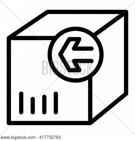 Return Order Icon. Outline Return Order Vector Icon For Web Design Isolated On White Background