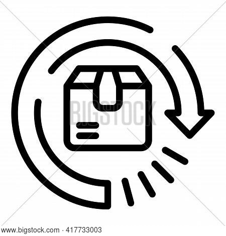 Tracking Parcel Icon. Outline Tracking Parcel Vector Icon For Web Design Isolated On White Backgroun