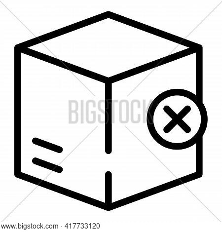 Closed Parcel Icon. Outline Closed Parcel Vector Icon For Web Design Isolated On White Background