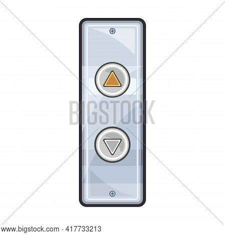 Elevator Panel Vector Icon.cartoon Vector Icon Isolated On White Background Elevator Panel.