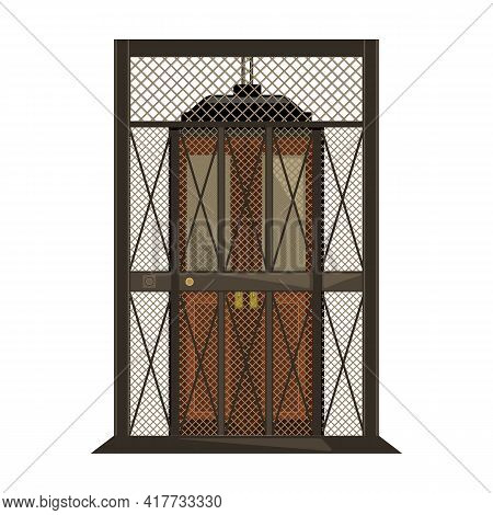 Elevator Of Lift Vector Icon.cartoon Vector Icon Isolated On White Background Elevator Of Lift.