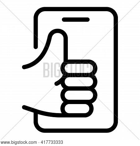 Positive Feedback Icon. Outline Positive Feedback Vector Icon For Web Design Isolated On White Backg
