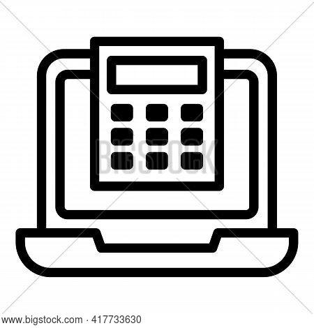 Calculator Consumer Icon. Outline Calculator Consumer Vector Icon For Web Design Isolated On White B
