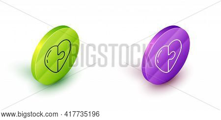 Isometric Line Heart Icon Isolated On White Background. Romantic Symbol Linked, Join, Passion And We