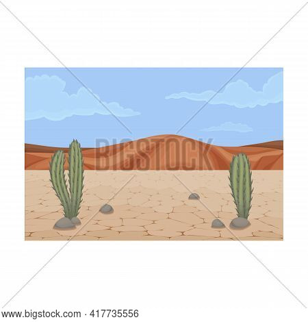 Desert Vector Icon.cartoon Vector Icon Isolated On White Background Desert.