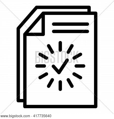 Loading Document Icon. Outline Loading Document Vector Icon For Web Design Isolated On White Backgro