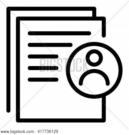 Student Cv Icon. Outline Student Cv Vector Icon For Web Design Isolated On White Background