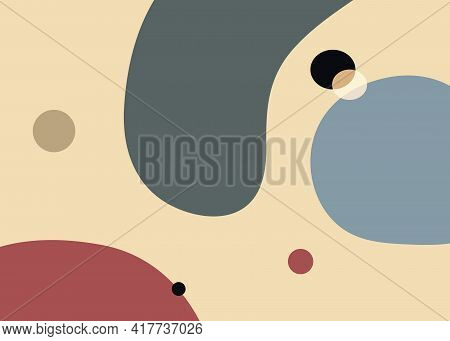 Pastel Circle And Abstrat Shape Background Vector