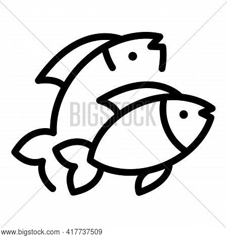 Fish Protein Icon. Outline Fish Protein Vector Icon For Web Design Isolated On White Background