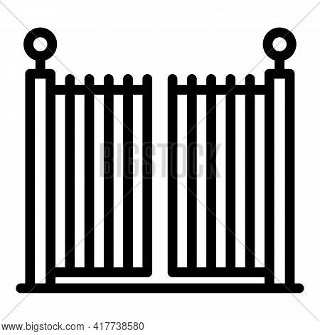 Signal Automatic Gate Icon. Outline Signal Automatic Gate Vector Icon For Web Design Isolated On Whi