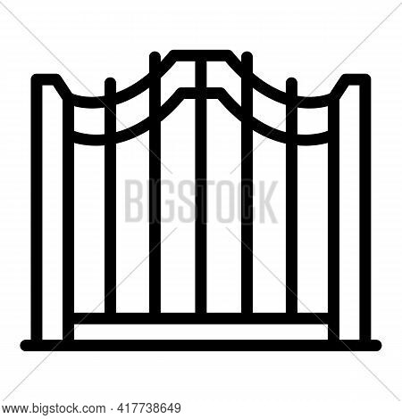 Access Smart Gate Icon. Outline Access Smart Gate Vector Icon For Web Design Isolated On White Backg