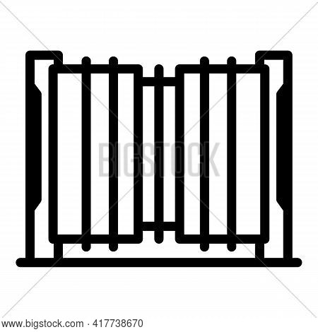 Access Automatic Gate Icon. Outline Access Automatic Gate Vector Icon For Web Design Isolated On Whi