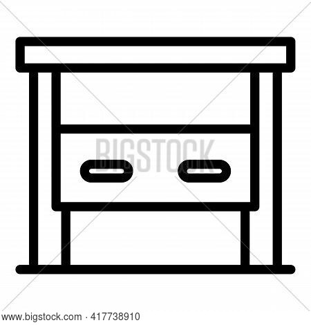 Auto Gate Icon. Outline Auto Gate Vector Icon For Web Design Isolated On White Background