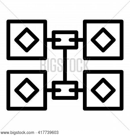 Blockchain Revolution Icon. Outline Blockchain Revolution Vector Icon For Web Design Isolated On Whi