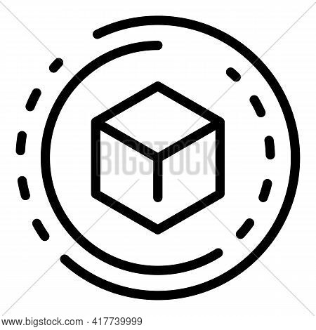 Blockchain Future Icon. Outline Blockchain Future Vector Icon For Web Design Isolated On White Backg