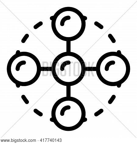 Blockchain Service Icon. Outline Blockchain Service Vector Icon For Web Design Isolated On White Bac