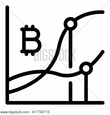 Annual Bitcoin Icon. Outline Annual Bitcoin Vector Icon For Web Design Isolated On White Background