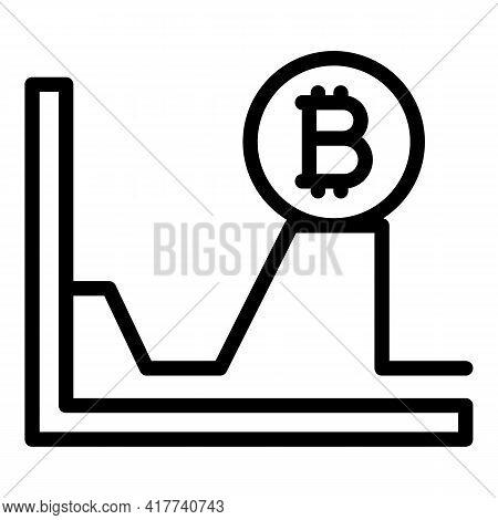 Bitcoin Evolution Icon. Outline Bitcoin Evolution Vector Icon For Web Design Isolated On White Backg