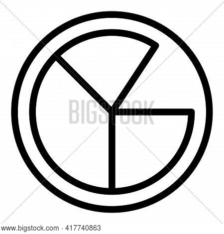 Bitcoin Diagram Icon. Outline Bitcoin Diagram Vector Icon For Web Design Isolated On White Backgroun