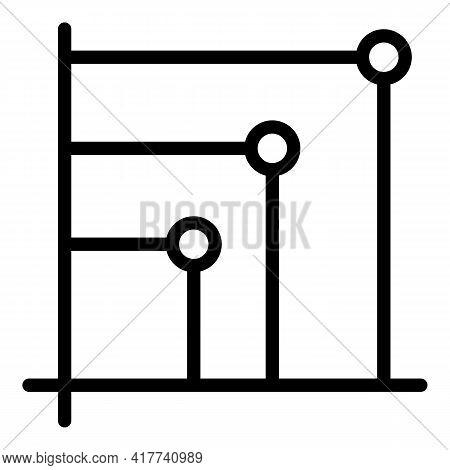 Bitcoin Statistics Icon. Outline Bitcoin Statistics Vector Icon For Web Design Isolated On White Bac