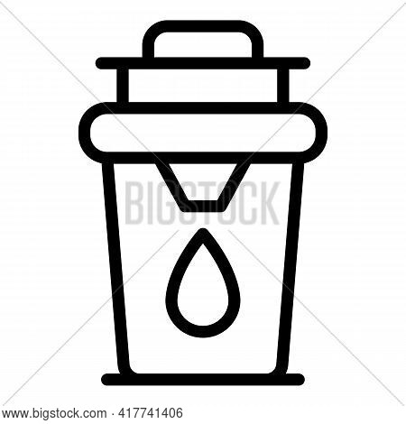 Water Filter Icon. Outline Water Filter Vector Icon For Web Design Isolated On White Background