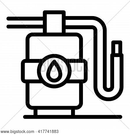 Water Purifier Icon. Outline Water Purifier Vector Icon For Web Design Isolated On White Background