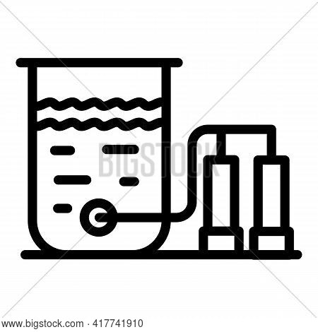 Liquid Filter System Icon. Outline Liquid Filter System Vector Icon For Web Design Isolated On White