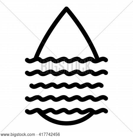 Water Droplet Icon. Outline Water Droplet Vector Icon For Web Design Isolated On White Background